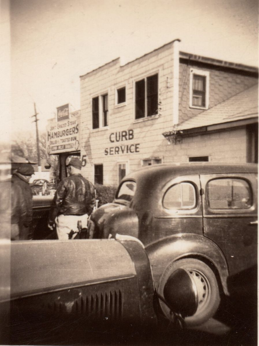 The Dixie Truckers Home, 1948. This is the original building, which was destroyed by fire in 1965. Established in 1928 by J. P. Walters, the Dixie is the oldest truck stop in America. Courtesy of Barb Farmer.