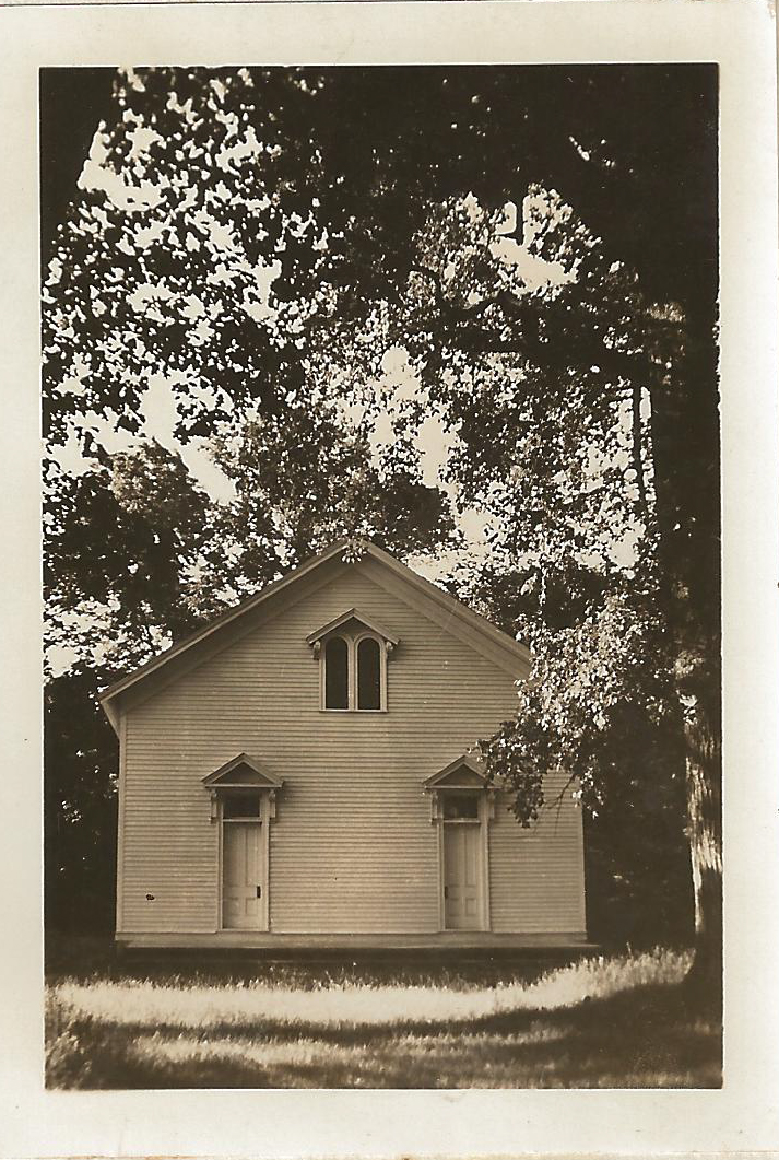 Funks Grove Church, 1937. The church was built in 1864-65 by Isaac Funk, Robert Stubblefield, and their sons and still stands in its original location in Funks Grove (a few miles north of McLean) today.