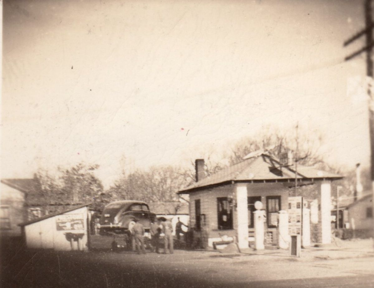 The Illico Station, 1948. This small gas and service station was located across from the Dixie on Highway 136 (where there is currently an open grassy lot). In 1955 the name was changed to the Apco Service Station. Courtesy of Barb Farmer.