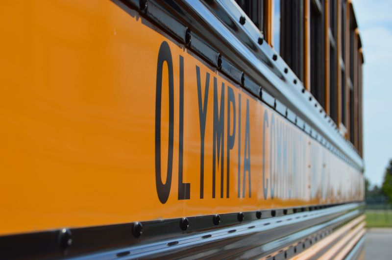 Olympia Transportation Department provides transportation to more than 1,800 students each day.